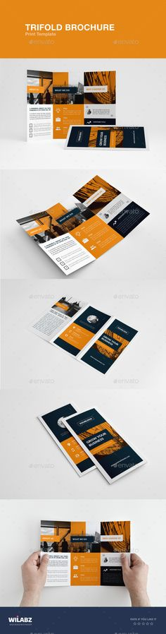 Printed   folded brochure design   Graphic design inspiration     Trifold Brochure   Brochures Print Templates