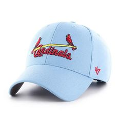 online store 6249d 547e7 St. Louis Cardinals 47 Brand Columbia Blue MVP Adjustable Hat