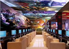 China Internet Cafe Interior
