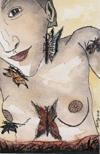 The game of butterflies Art, Painting, Watercolor Art