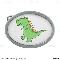 Cute cartoon T-rex Oval Belt Buckles