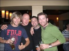 Keith, George Ryan & Paul - Damian wasn't old enough to go out drinking!