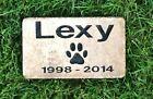 "7""X4"" Pet Grave Marker (Free Custom Engraved Pet Name Paver Stone Marker) - http://pets.goshoppins.com/pet-memorials-urns/7x4-pet-grave-marker-free-custom-engraved-pet-name-paver-stone-marker/"