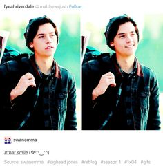 #Riverdale #Jughead I started watching for Archie but I'm staying for Jughead ❤