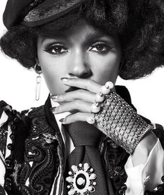 Janelle Monáe wearing Marc Jacobs Resort '17. Shot by Jeff Bark, styled by Beat Bollinger for V Magazine