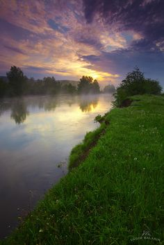 Morning on the river Serga Middle Urals, Russia. Looking at this makes me wanna camp!!!
