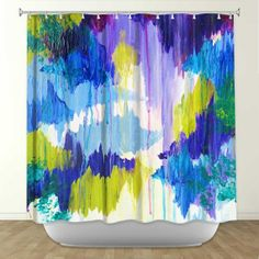 WINTER DREAMING Fine Art Painting Shower Curtain by EbiEmporium, $89.00