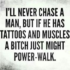 Tattoos and muscles...YES
