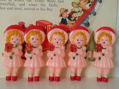 Celluloid Rattle Dolls  find us in The Nursery  millyanddottie.com