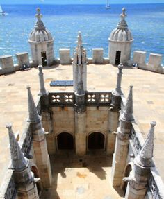 Inside the Belém Tower, looking to the sea