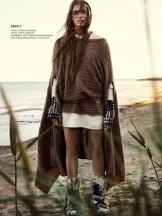 "Elle Sweden November 2014 ""Naturbarn"" photography Eric Josjo model Stina Olsson styling Lisa Lindqwister hair Ignacio Alonso mu Erika Svedjevik"