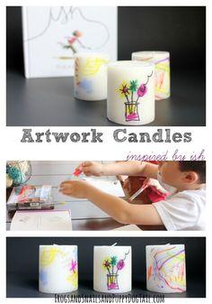 Kid's Artwork Candles - FSPDT