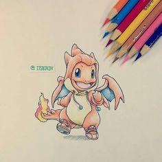 itsbirdy pokemon charmander y Baby Pokemon, Pokemon Charmander, Cool Pokemon, Charizard, Cartoon Drawings, Cute Drawings, Pokemon Mignon, Pokemon Coloring, Pokemon Cosplay