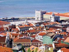 Praça do Comércio, vista do Castelo de São Jorge - Lisboa (Lisbon), Portugal
