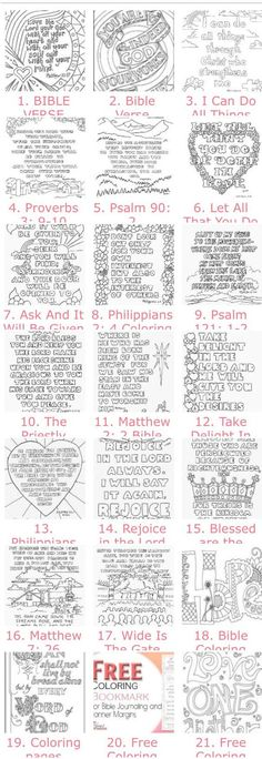 20 Free Adult Bible Coloring Pages (you should see the images on the page but in some browsers it takes a while to load. 20 Free Adult Bible Coloring Pages (you should see the images on the page but in some browsers it takes a while to load. Scripture Study, Bible Art, Bible Quotes, Bible Verses, Scripture Journal, Prayer Journals, Craft Quotes, Art Journaling, Bibel Journal