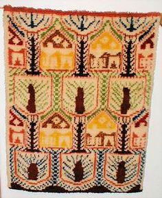 About Finnish Textiles: poppana, rya rugs - All Fiber Arts, Rya Rug, Fabric Patterns, Handicraft, Color Inspiration, Fiber Art, Folk Art, Design Art, Hopea, Bohemian Rug