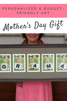 Personalized Mother's Day gift idea of wall art for grandma or mom day gifts for grandma DIY Personalized Mother's Day Gift on a Budget Mother's Day For Grandma, Diy Gifts For Grandma, Grandmas Mothers Day Gifts, Diy Gifts For Mothers, Mothers Day Crafts For Kids, Mom Day, Mother Day Gifts, Birthday Presents For Grandma, Christmas Gifts For Grandma