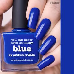 PicturePolish kynsilakka - BLUE/Jostakin syystä eri sinisen sävyt ovat lemppareita!