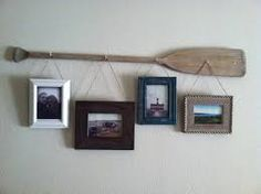 "I have a vintage oar...I like the photo idea -but on the paddle part add the quote ""life is but a dream"""