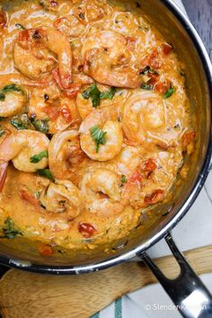 This low carb, Paleo, and Whole30 Creamy Coconut Shrimp with tomatoes, garlic, ginger, basil, and coconut milk is so tasty. Ready in 20 minutes for the best dinner. #dinner #kidfriendly #quickandeasy Coconut Shrimp Recipes, Grilled Shrimp Recipes, Shrimp Recipes For Dinner, Shrimp Recipes Easy, Seafood Recipes, Healthy Dinner Recipes, Cooking Recipes, Cooking Tips, Scd Recipes