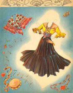 Rita Hayworth - Carmen Doll 1948   Gabi's Paper Dolls