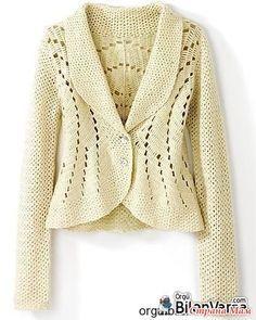 crochelinhasagulhas: Casaco branco em crochê