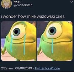 Mike Wazowski is our favorite character of all time. Suddenly, Mike Wazowski Memes start going viral around the internet. We also post the viral collection of Mike Wazowski Memes. Dank Memes Funny, Crazy Funny Memes, Really Funny Memes, Stupid Memes, Funny Relatable Memes, Haha Funny, Funny Texts, Funny Jokes, Food Jokes