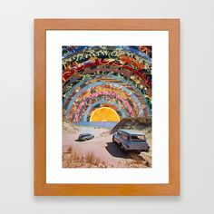 Buy Orange sunset Framed Art Print by blazcobain. Worldwide shipping available at Society6.com. Just one of millions of high quality products available.