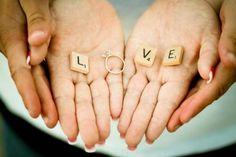 Cute engagement photo idea!