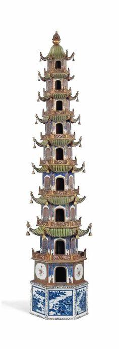 Porcelain Pagodas Qianlong/Jiaqing Period (Circa 1750 - 1800)