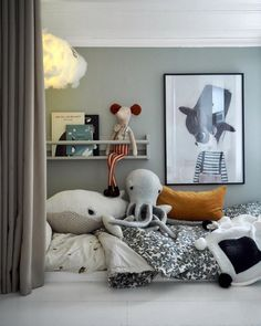 Small Bedroom Ideas - Small Bedroom Ideas to Make Your Home Look Bigger. Light shades boost the sensation of space, while darker tones often tend to close in; brighten your walls and also furnishings. Childrens Room Decor, Playroom Decor, Kids Decor, Decor Ideas, Playroom Ideas, Decorating Ideas, Kids Bedroom Furniture, Space Saving Furniture, Bedroom Decor