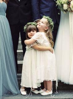 Elegant Indoor Wedding in Birmingham #flowergirls #flowercrown