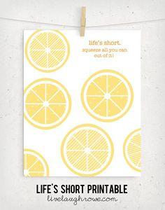 Lifes Short Printable with livelaughrowe.com #summer #printable