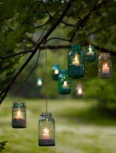 Ótima idéia para iluminar o jardim....
