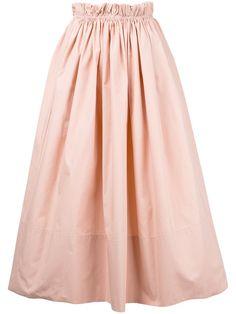 CHLOÉ Paper Bag Waist Midi Skirt. #chloé #cloth #skirt