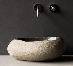 Waschbecken Aus Flussstein | RIVERROCK NATURAL