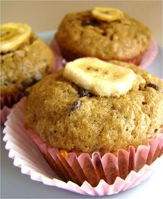 Banana Chocolate Chip Muffins. I just made them and they're awesome.