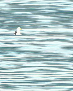 Love this seagull print. Would be gorgeous in my underwater photography office. Illustration Arte, Fine Art Prints, Framed Prints, Artsy Fartsy, Art Inspo, Wall Art Decor, Art Paintings, Indian Paintings, Abstract Paintings