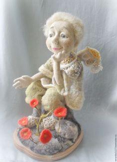 """Купить Кукла из шерсти """"И на камнях растут цветы..."""" - авторская ручная работа"""