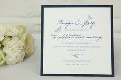 Flutter Wedding Invitation in Deep Blue