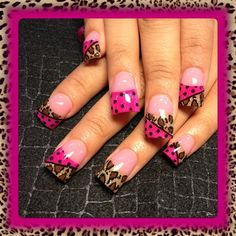 Hot Pink and Leopard by - Nail Art Gallery by Nails Magazine Fabulous Nails, Gorgeous Nails, Pretty Nails, Fancy Nails, Cute Nail Art, Nail Art Diy, Leopard Nails, Pink Leopard, Manicure Y Pedicure