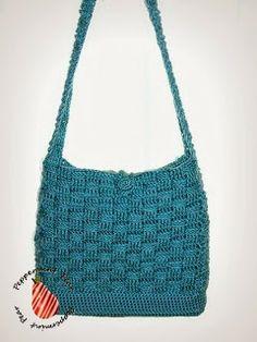 Basketweave crochet bag/purse - free crochet pattern from peppermintpear.