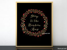 Anniversary sale! Black friday sale! Glory to the newborn king, printable Christmas decoration  #GoldChristmasDecor #BlackFriday #PrintableGoldFoilChristmasDecor #ChristianHomeDecor #ChristmasWallArt #GoldFoil #ChristianWallArt #carol #PrintableChristmasDecorations #InstantDownload