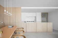 Residence LC Residence LC is a minimalist home located in Knokke, Belgium, designed by Nils Van der Celen Interior Desing, Simple Interior, Minimalist Interior, Apartment Interior, Kitchen Interior, Kitchen Design, Solid Wood Furniture, Large Furniture, Design Industrial
