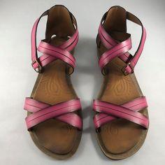 34a82b732ecfa Clarks Billie Jazz Fuschia Strappy Sandals Womens Shoes Size 11 M