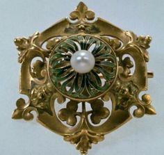 Lalique 1898-99 'Leaves & Masks' Brooch/ artvalue