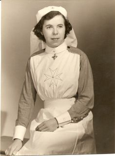 Original pinner: 'When I saw pictures of Margaret Lucy Perks in a Nurses uniforn I assumed it was her day job, but have since found out that this is St Johns Ambulance nurses uniform.' ~