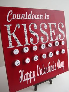 Valentine advent - cute idea!.... LOVE THIS CUTE LITTLE REMINDER FOR WHEN VALENTINES DAY IS!!!