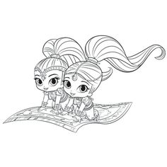 tickety toc coloring pages - shimmer doing ballet coloring page free cartoon series