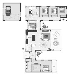 In my bank of floor plans saved I thought I'd share this one today. This home is suited to rural living and has the perfect layout to enjoy any surrounding views. The kitchen on the front is cool. Dream House Plans, House Floor Plans, Br House, Cottage House, Ranch Style Homes, House Blueprints, Diy Deck, Deck Plans, Building A Deck